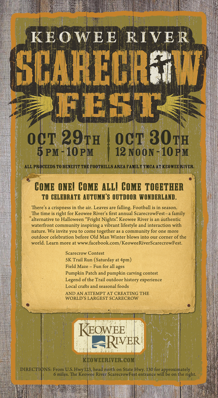 Keowee River Scarecrow Fest Ad