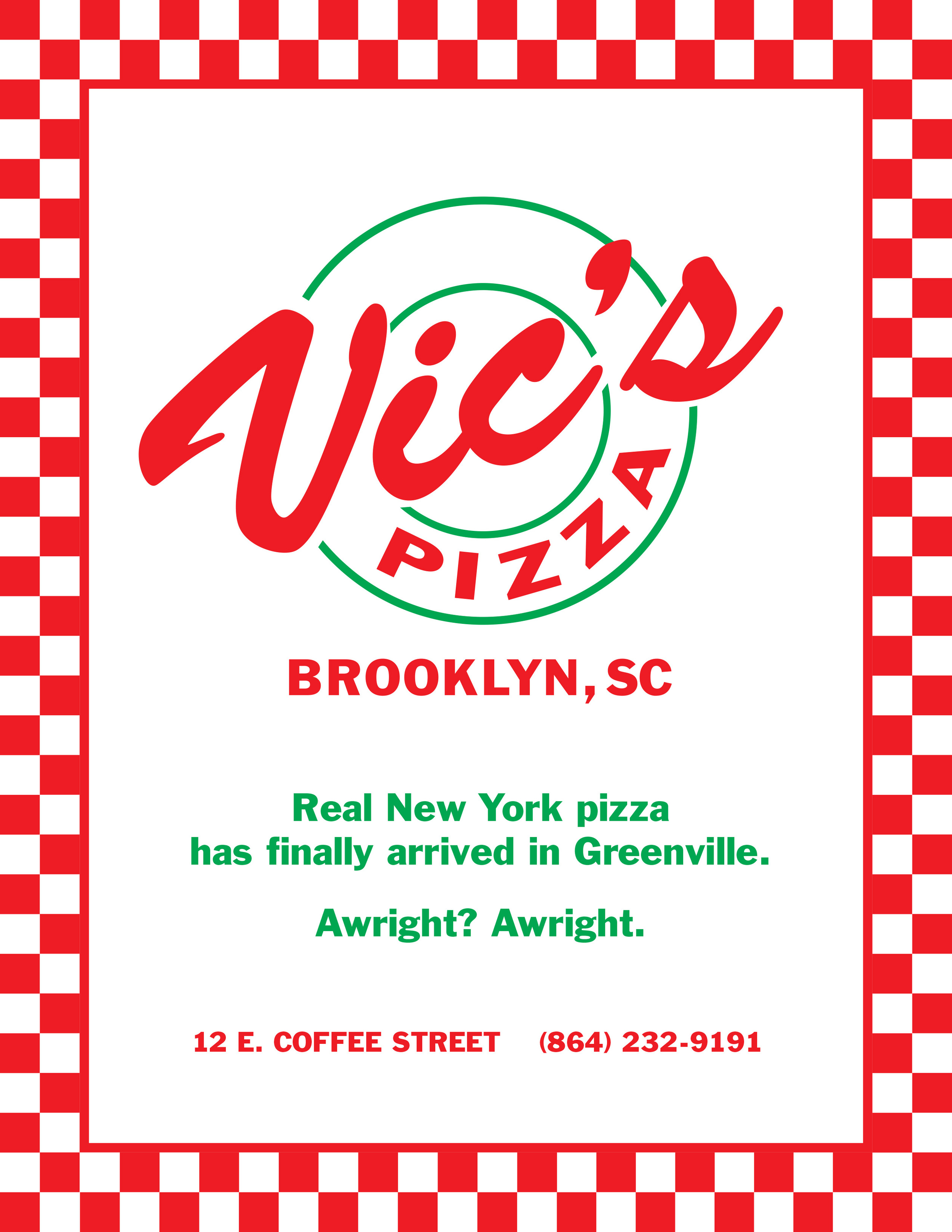 Vic's Pizza Ad