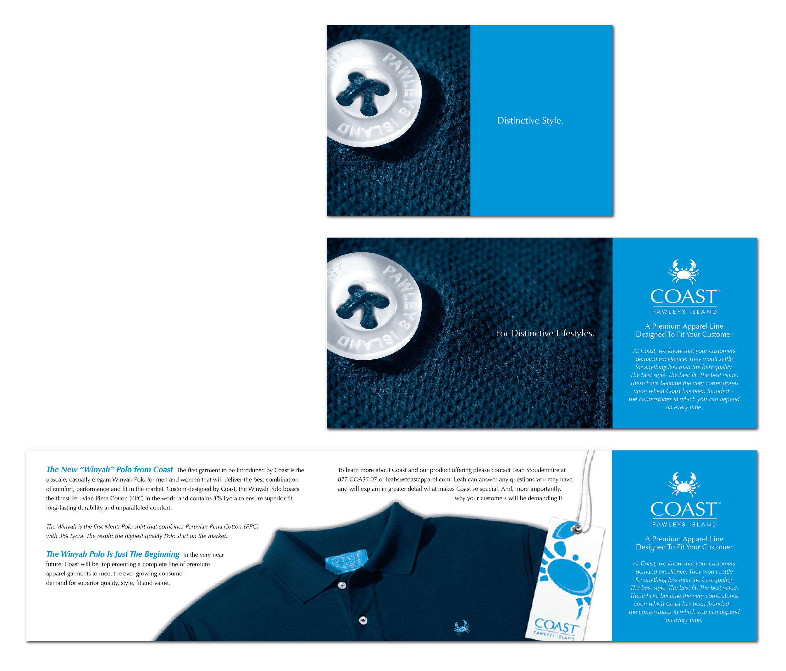 COAST Apparel Direct Mail