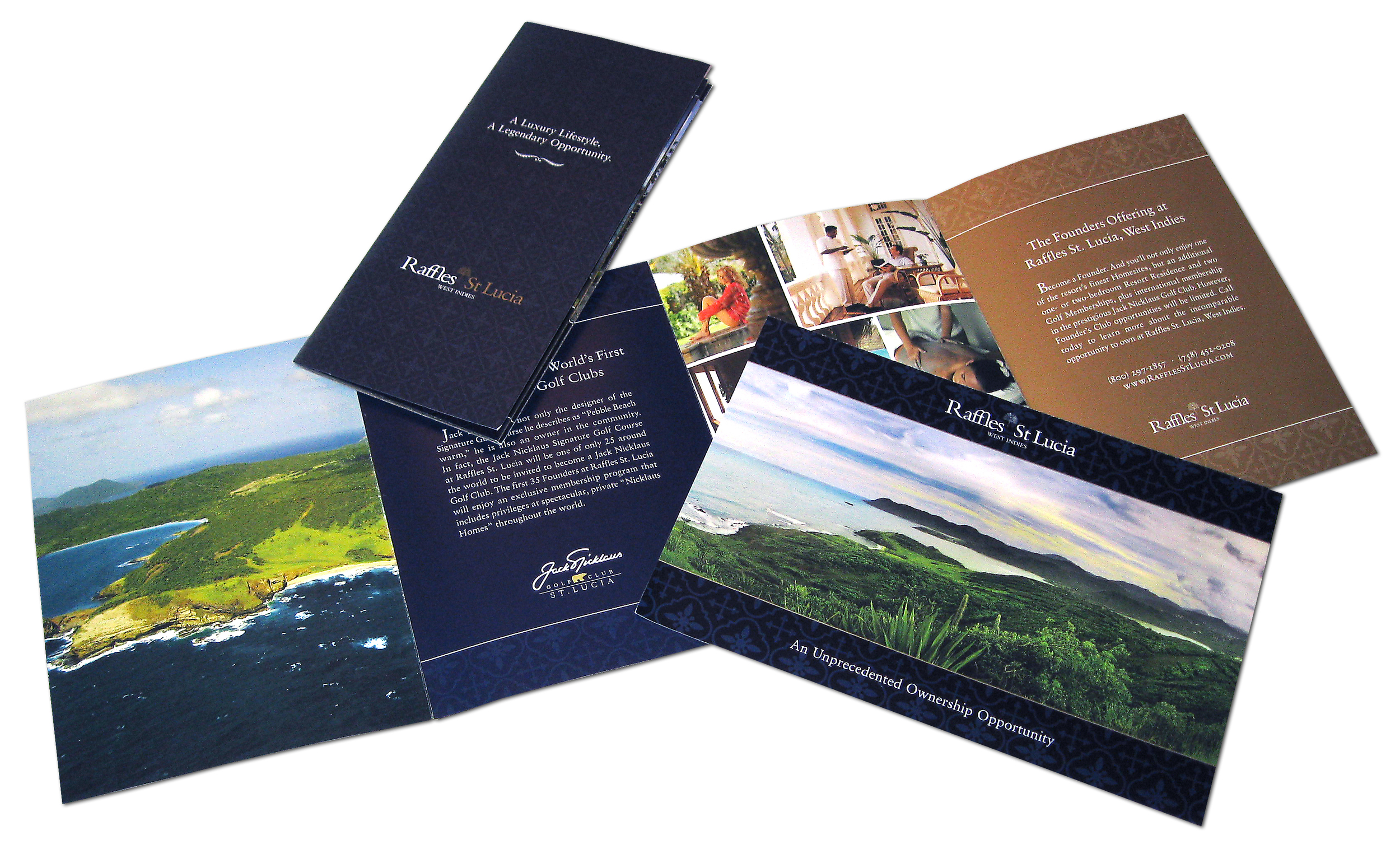 Raffles St. Lucia Direct Mail Materials