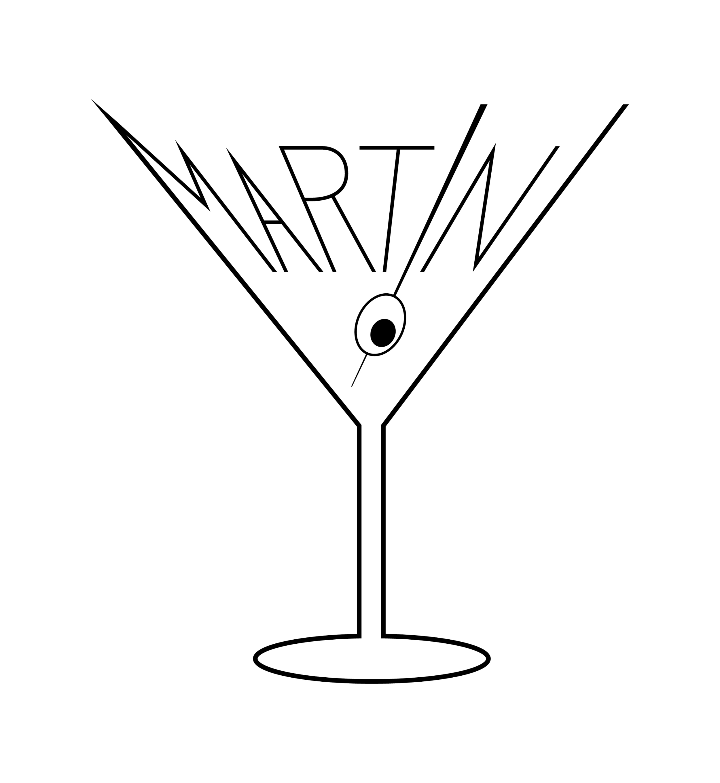 Typographic Illustration of the Word Martini