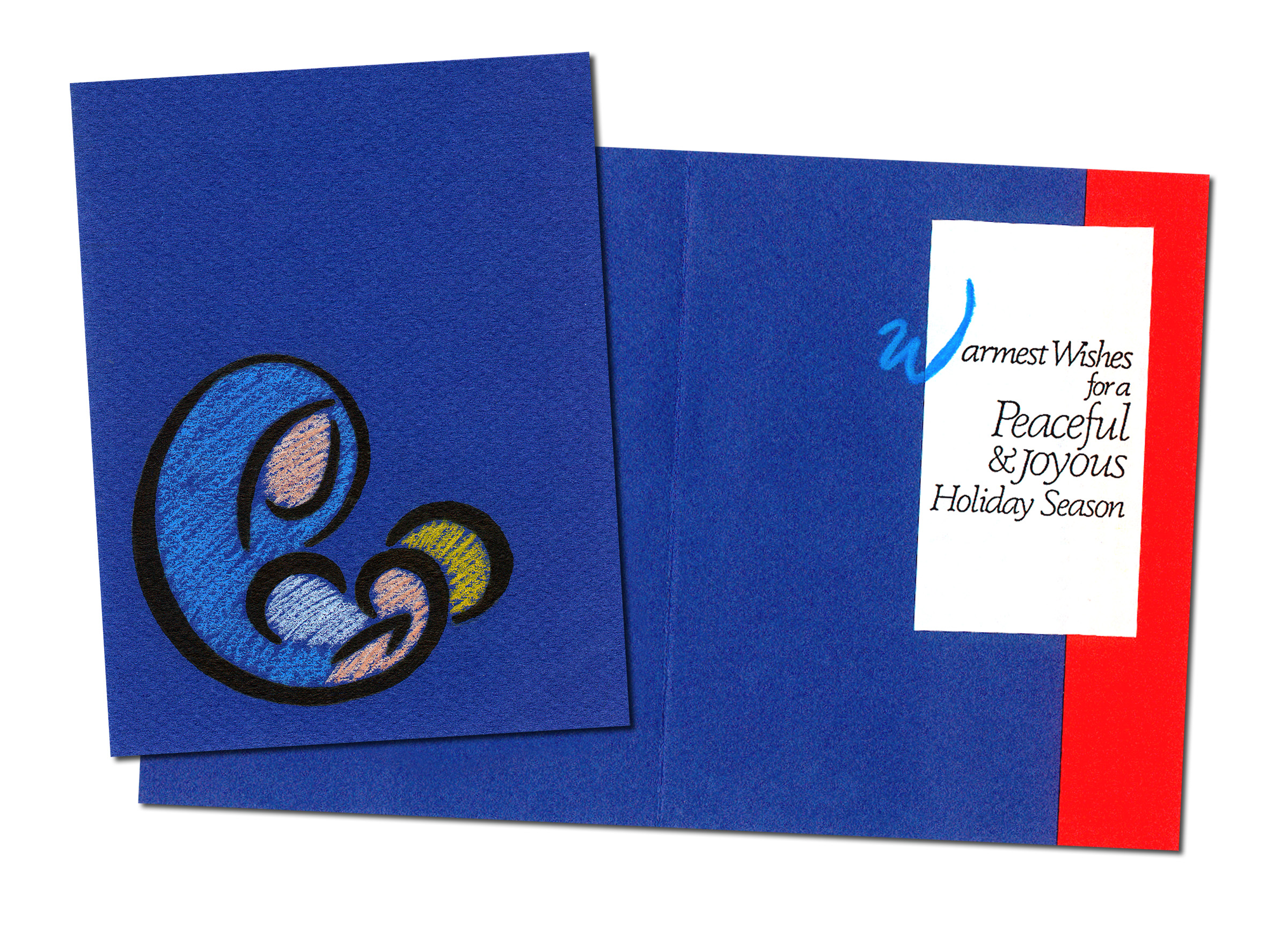 """Handmade """"Madonna and Child"""" Christmas Card"""
