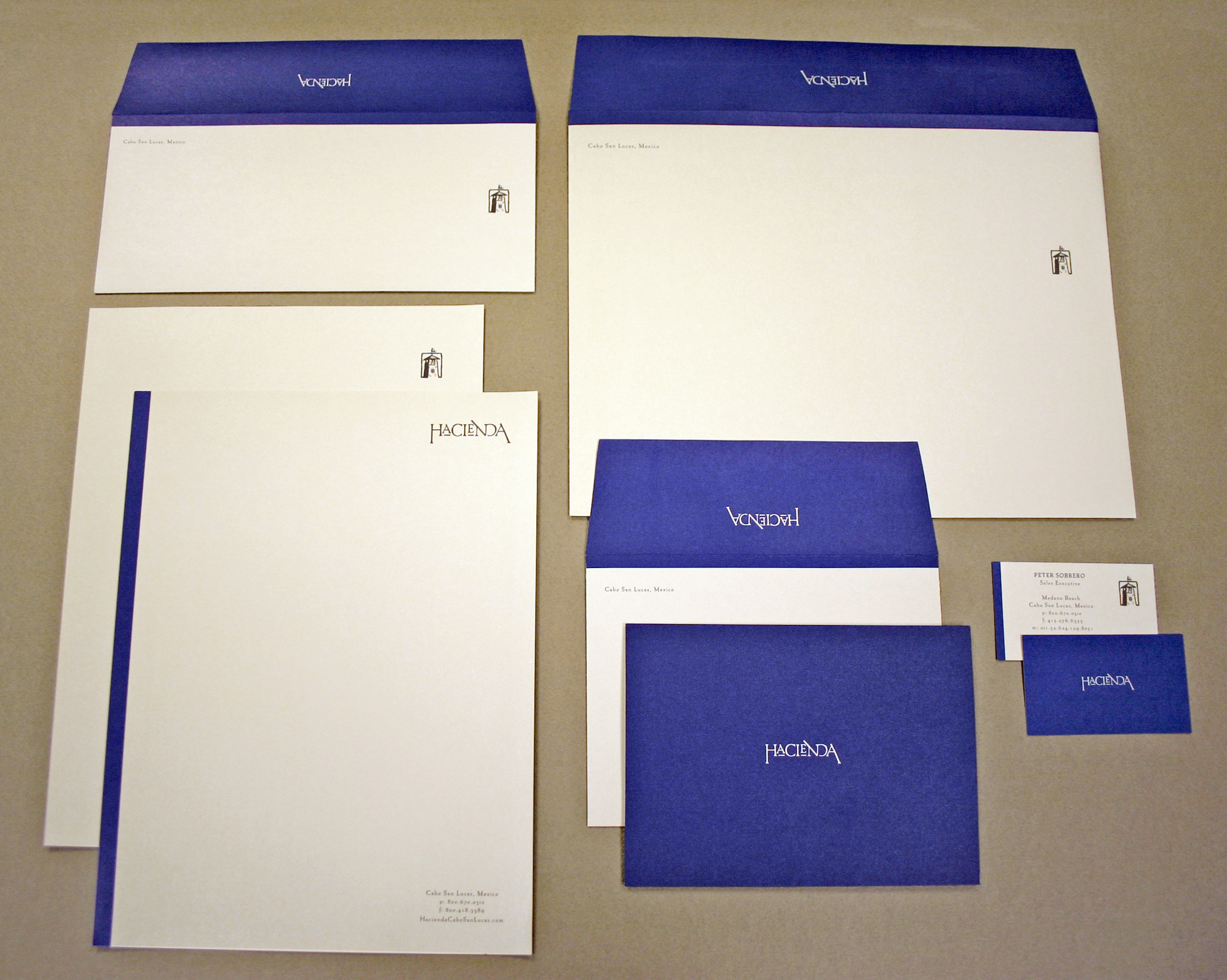 Hacienda Cabo San Lucas Sales & Marketing Stationery Package