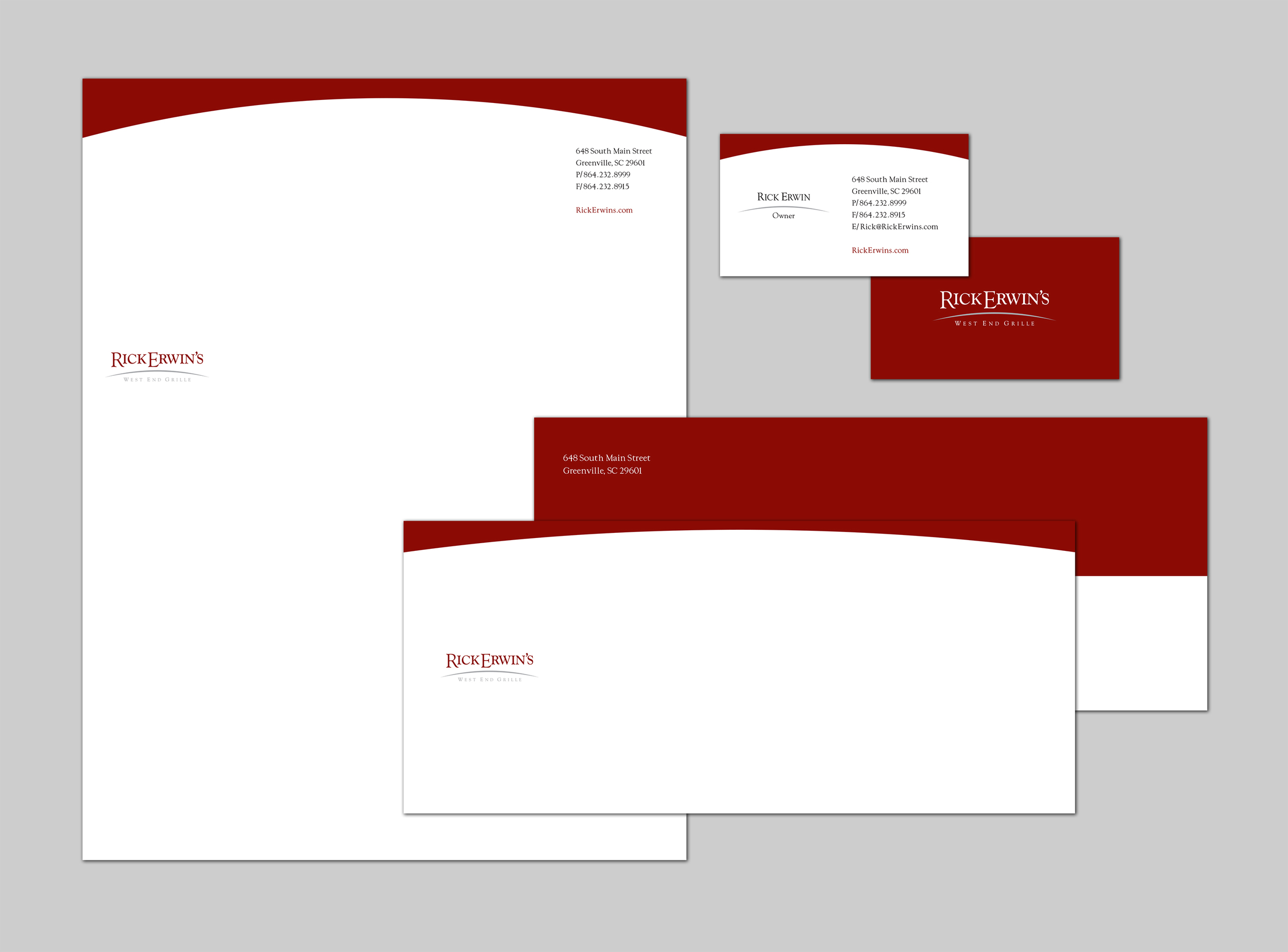 Rick Erwins West End Grille Stationery Package