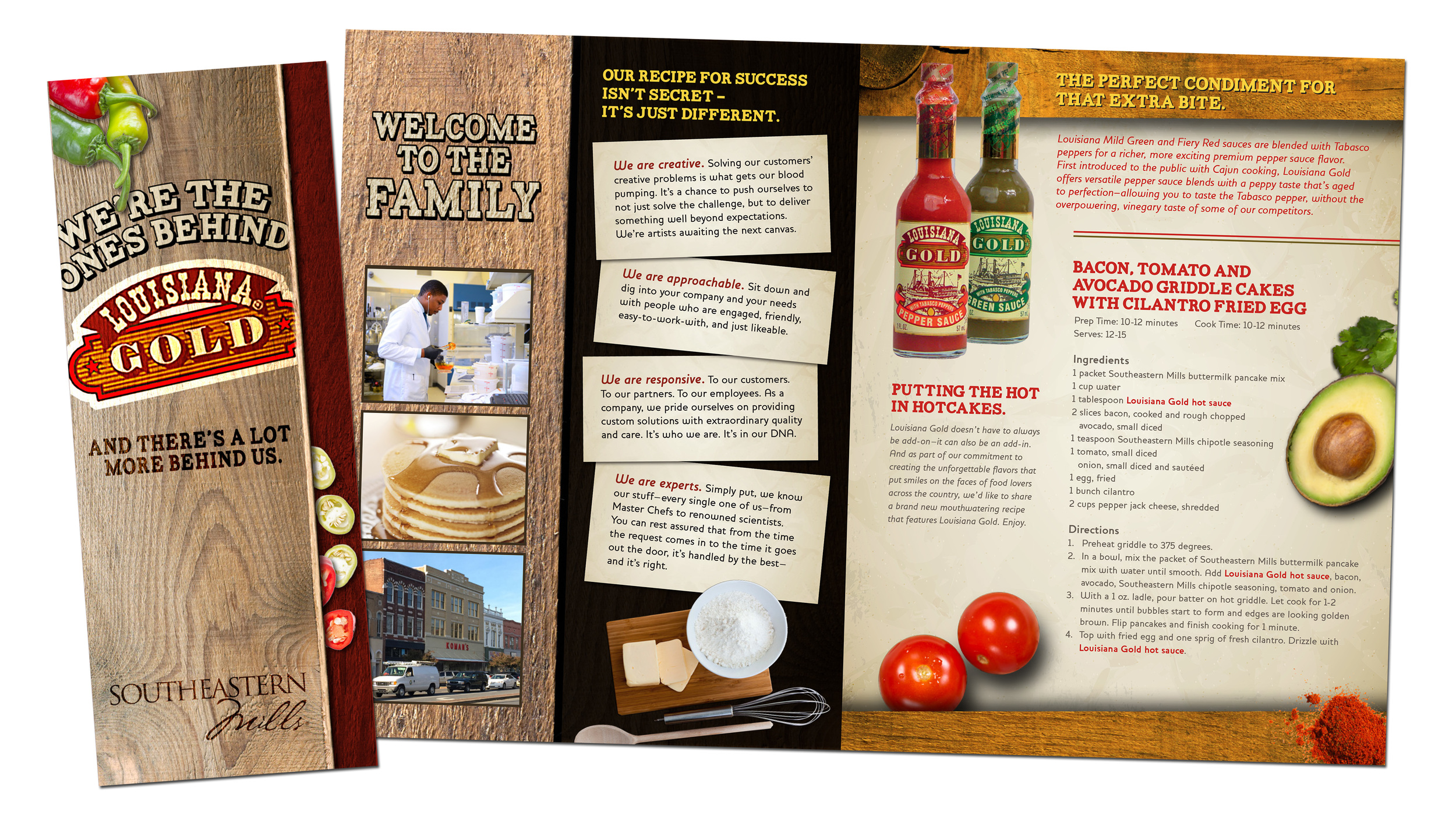 Louisiana Gold Hot Sauce Product Brochure