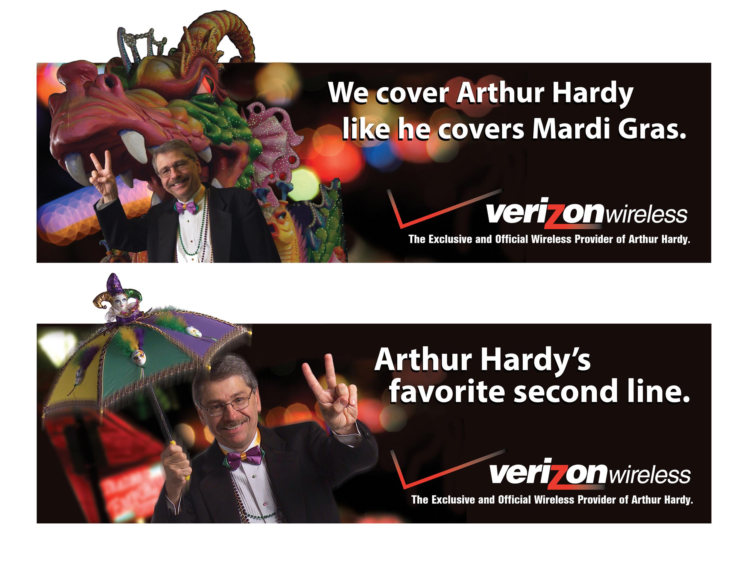 Verizon Wireless Arthur Hardy Outdoor Boards