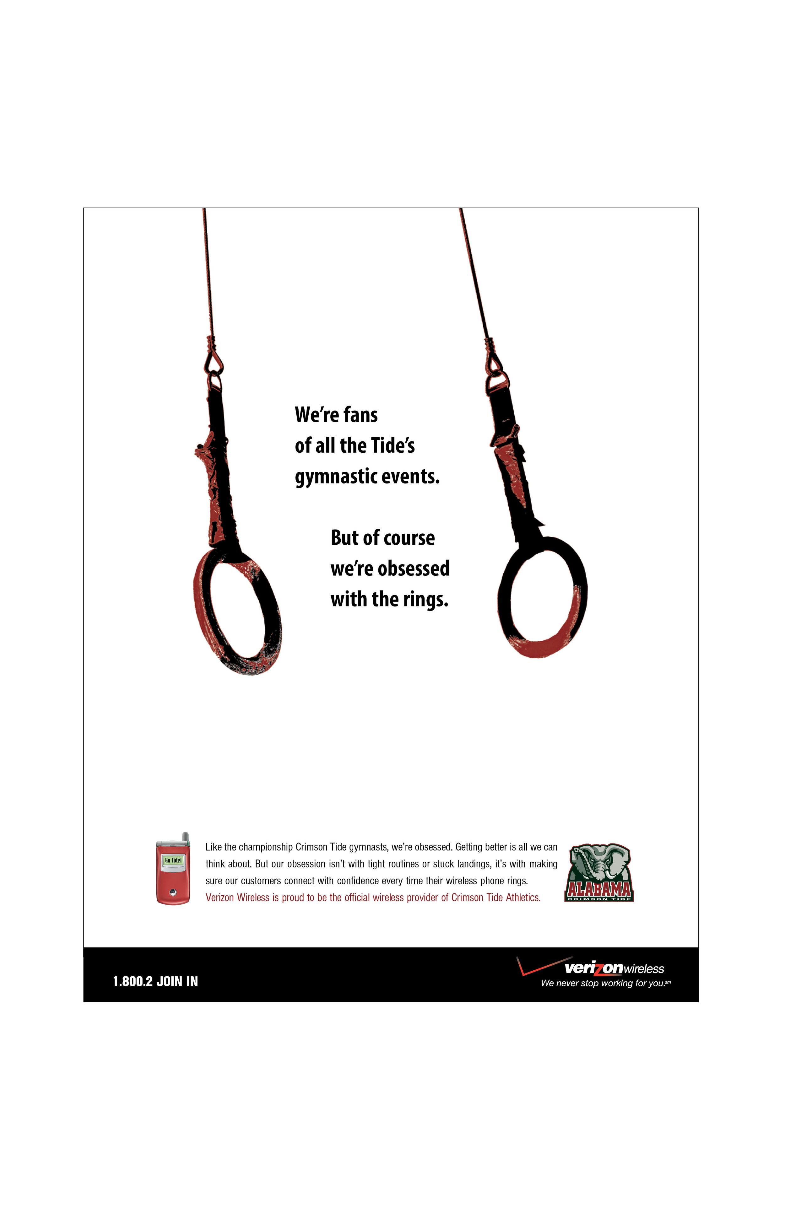 Verizon Wireless Alabama Sponsorship Ad