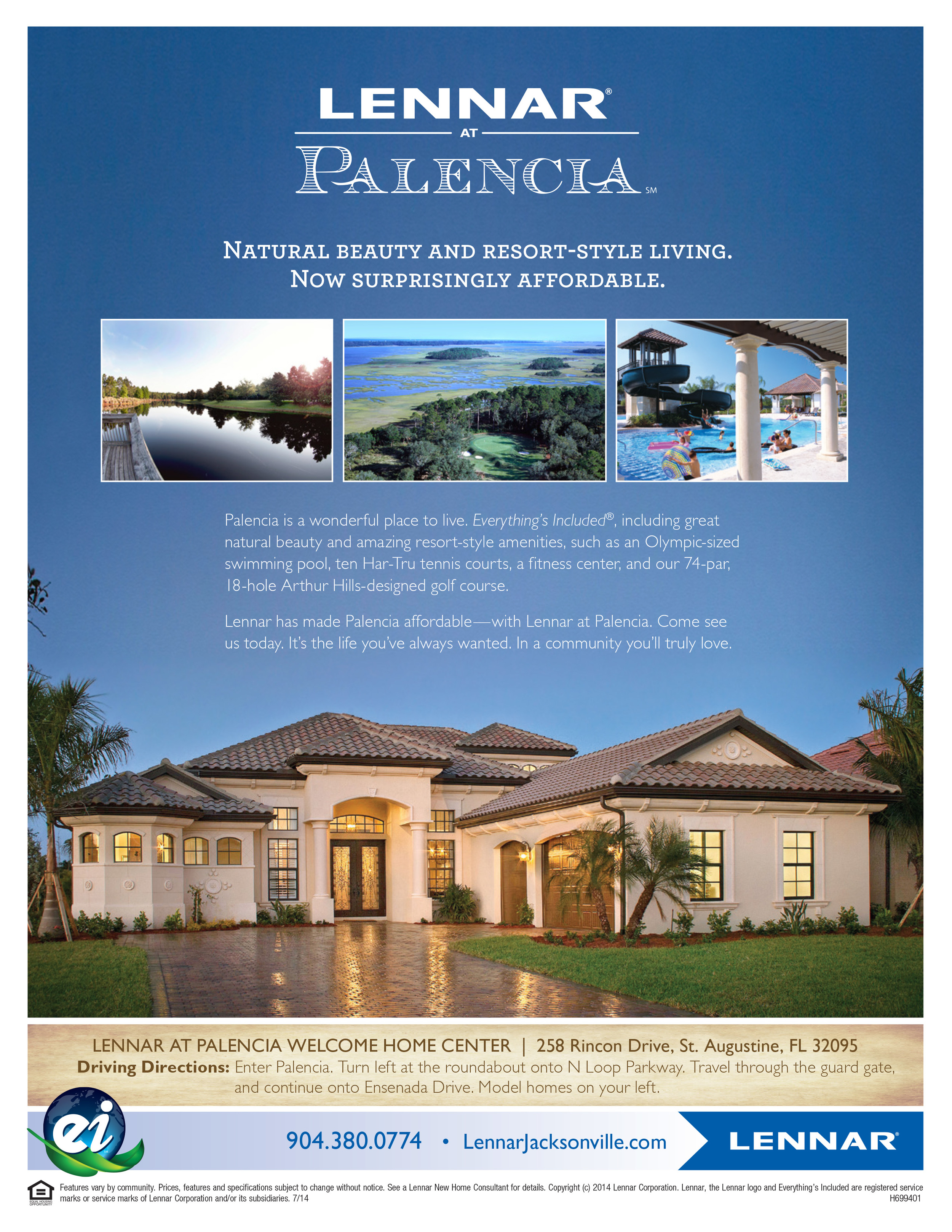 Lennar at Palencia Sales Flyer