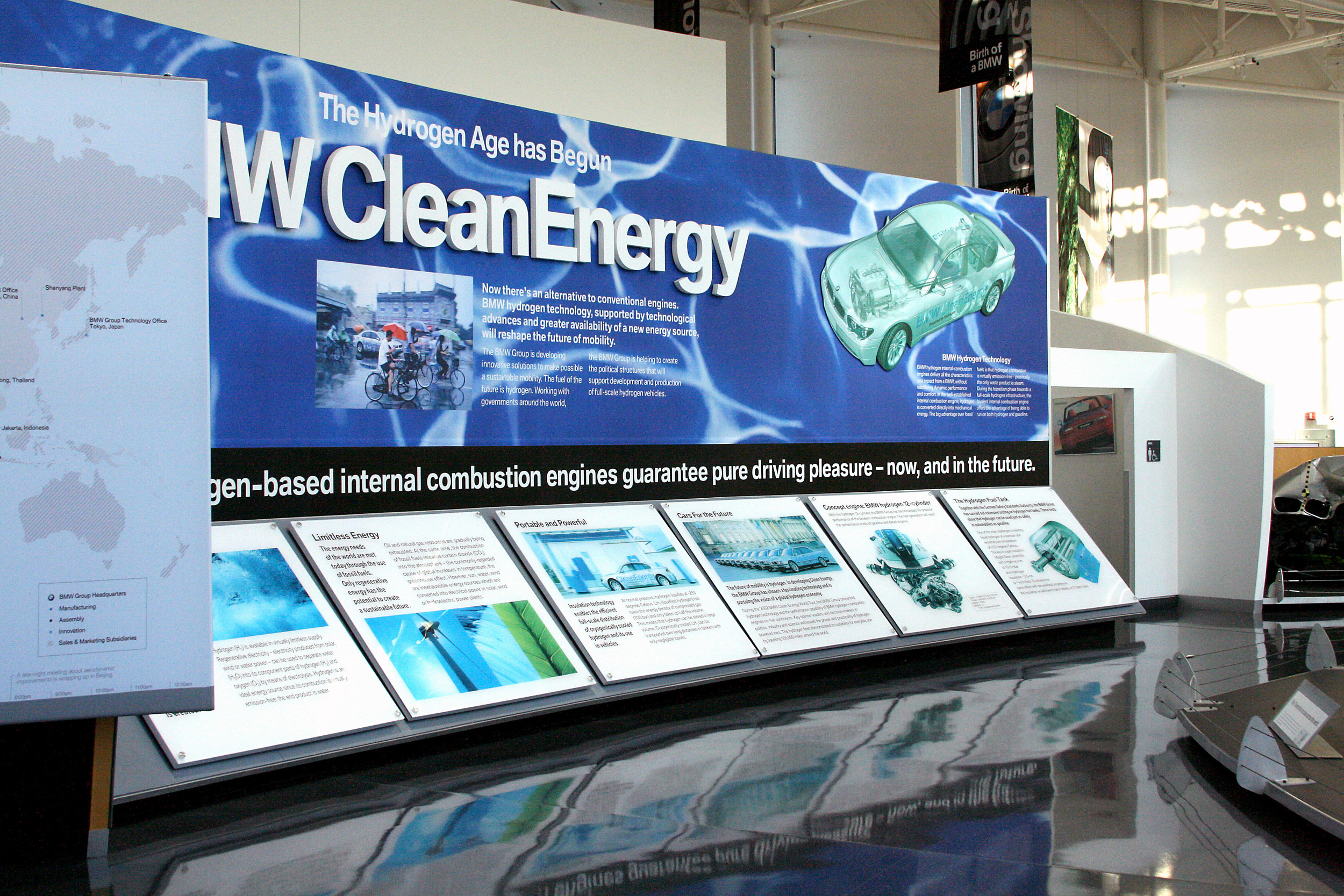Clean Energy Display at the BMW Zentrum Visitors Center