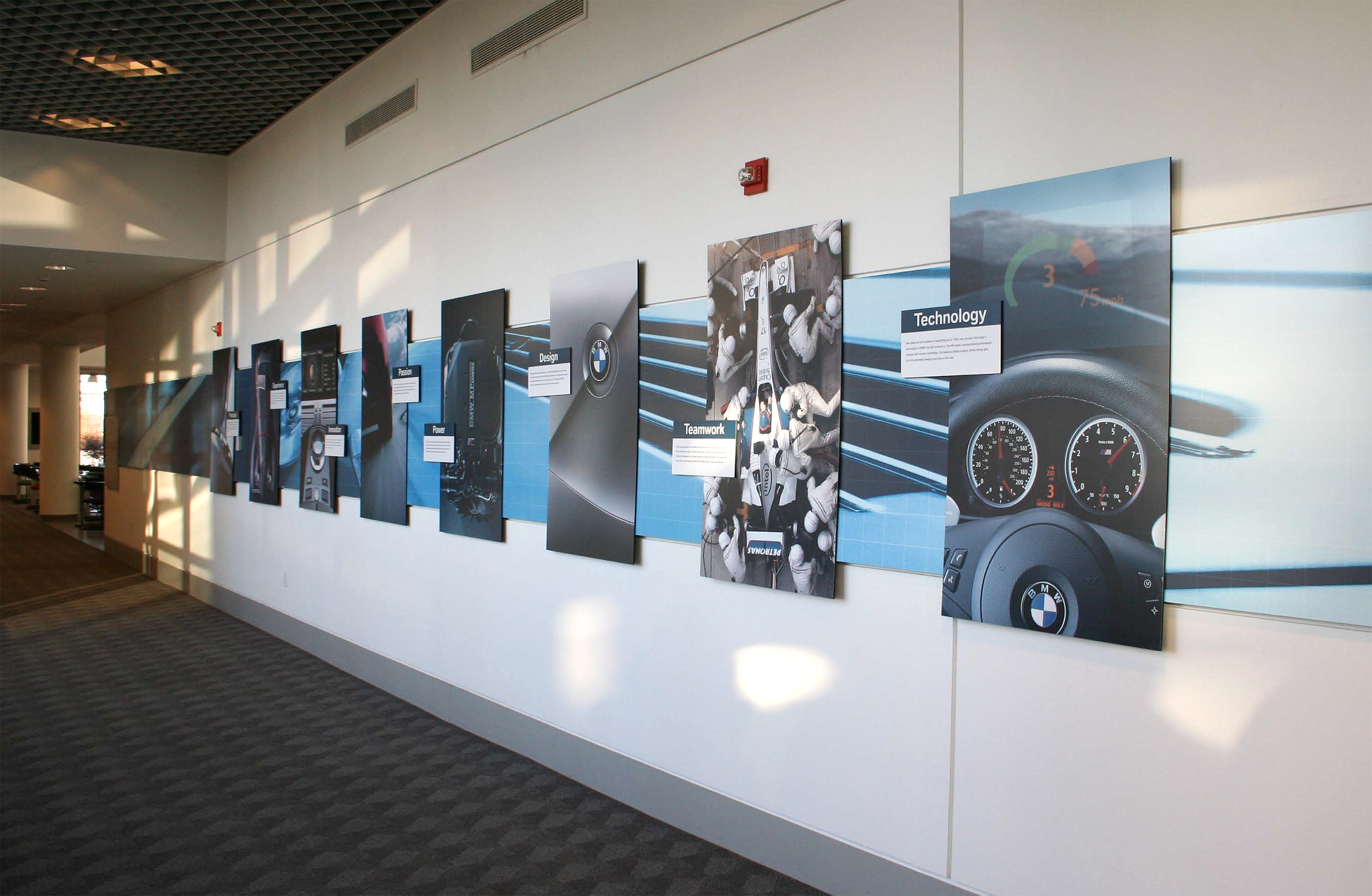 BMW Performance Center and Driving School Main Hallway Graphics