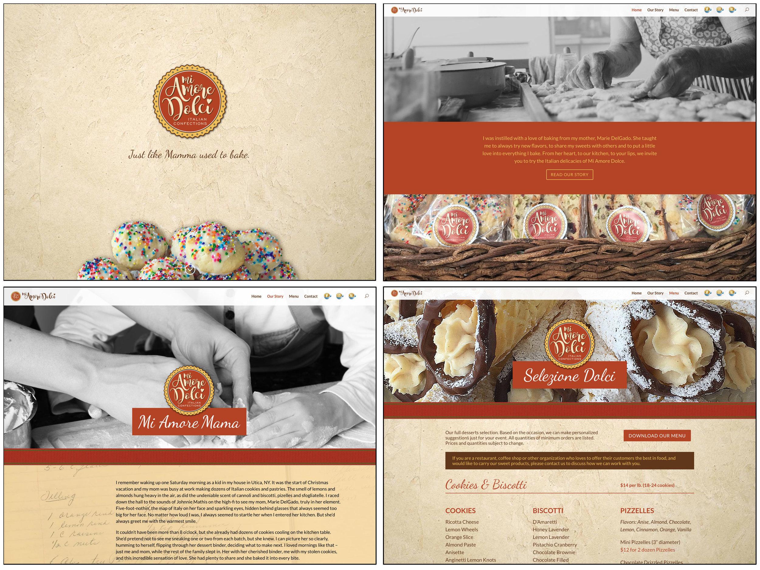 Mi Amore Dolci Website Design
