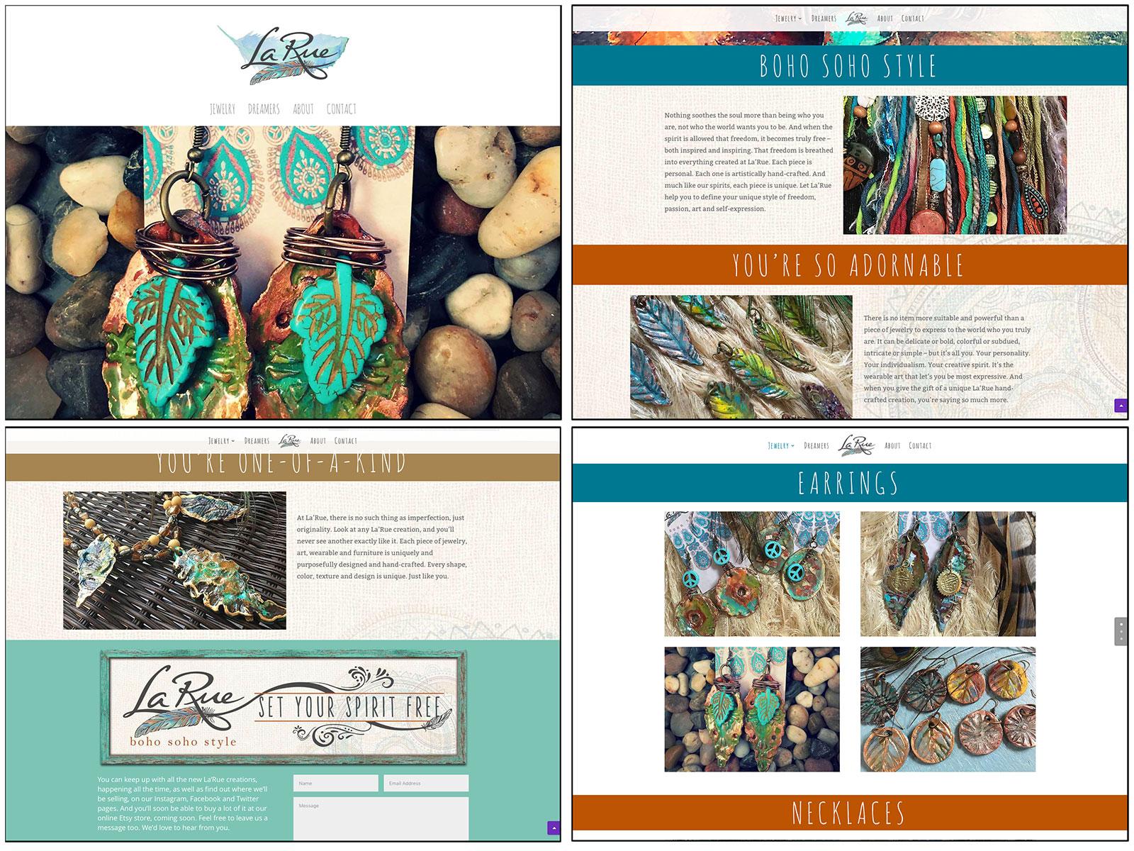 La'Rue Boho Soho Style Website Design