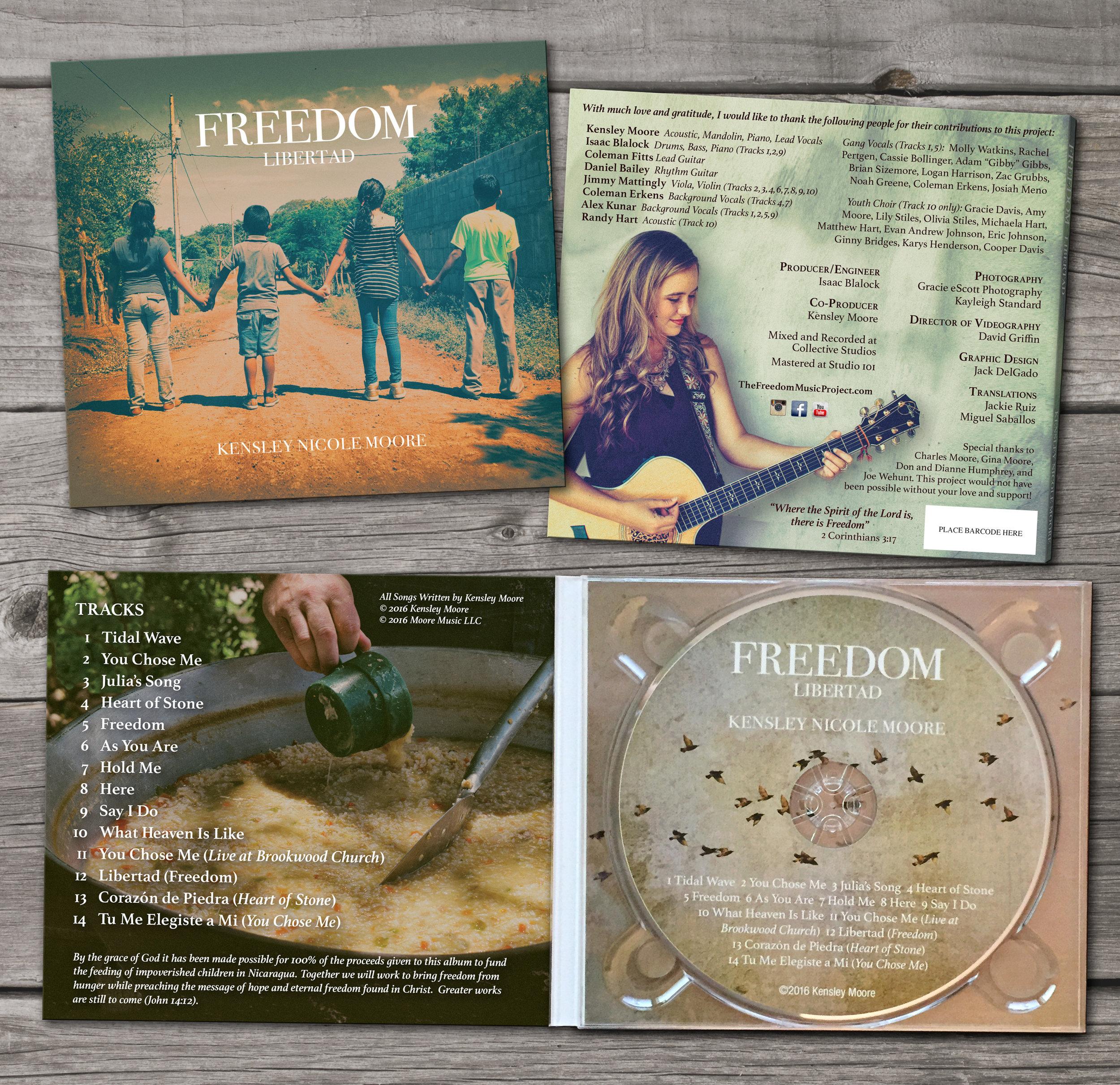 """Kensley Moore """"Freedom"""" CD Packaging"""