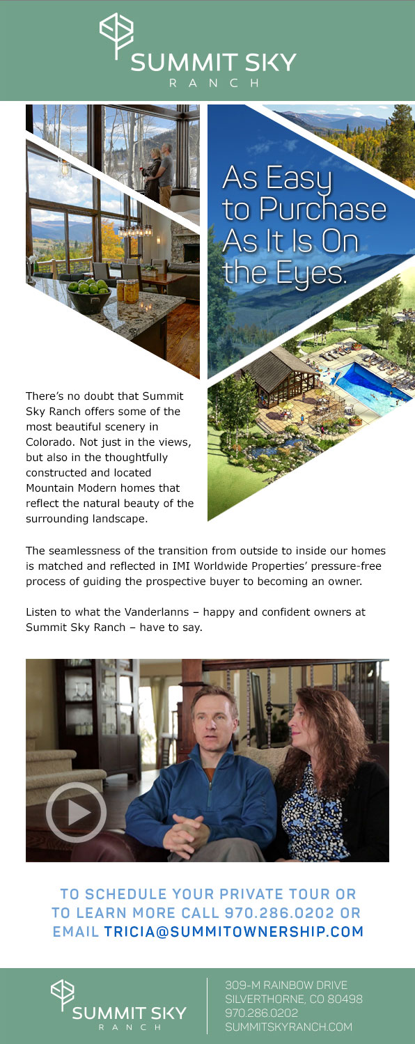 Summit Sky Ranch Testimonial Eblast