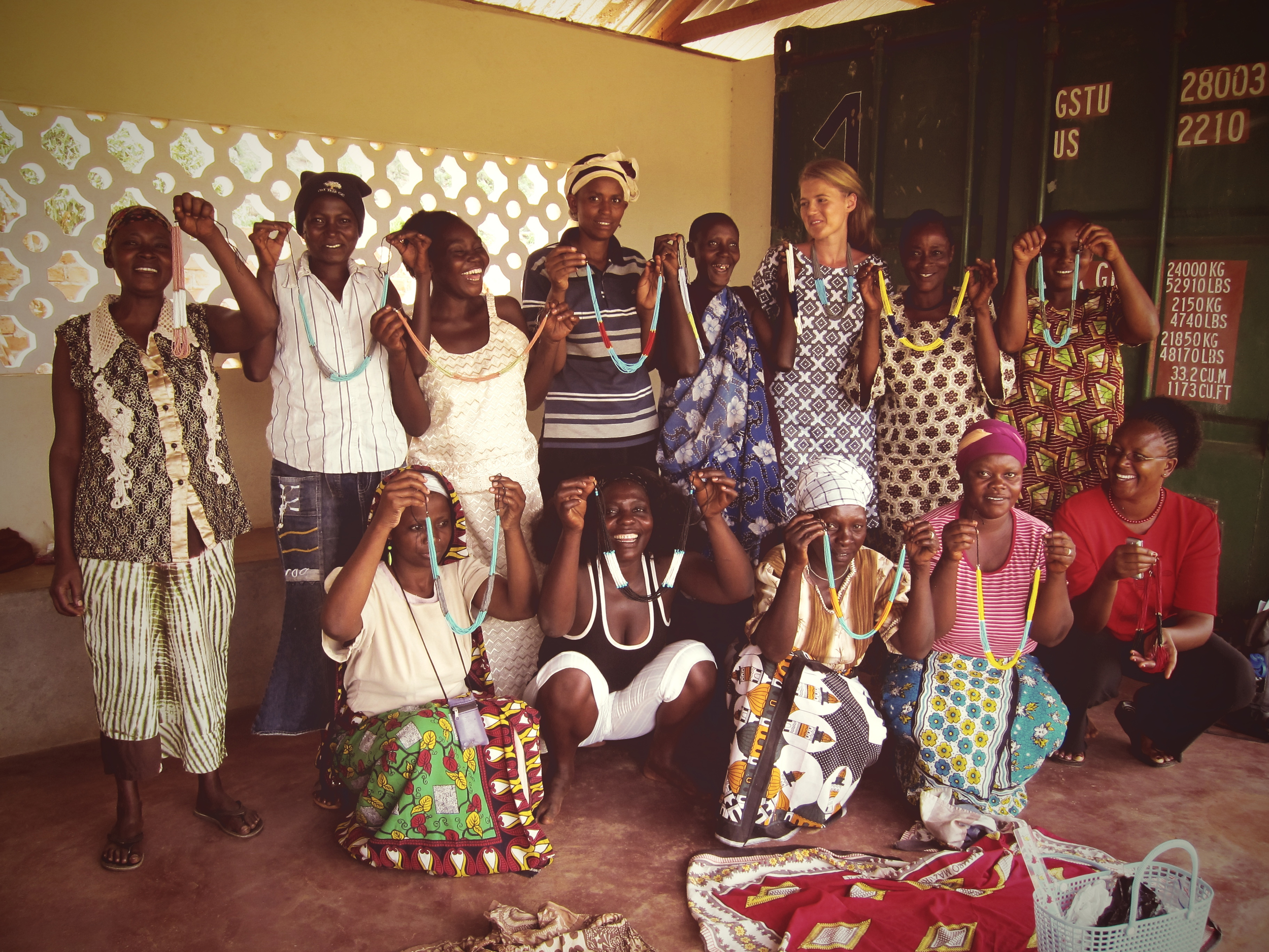 Here I am with the group of women artisans I worked with in Kenya—such remarkable and resilient women!