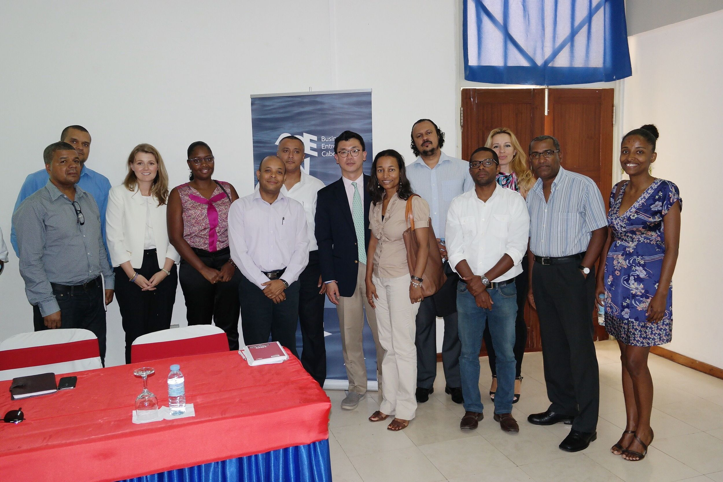 Here I am with West African small business owners. This picture was taken in Cabo Verde, a small archipelago off of West Africa, during a conference for entrepreneurs.