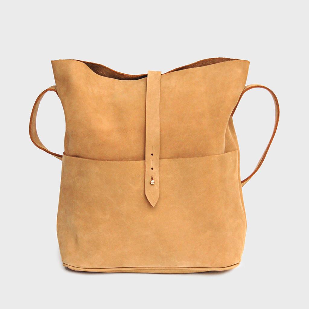 Nubuck Messenger Bag by Meyelo  ,  Dara Artisans , $135.00