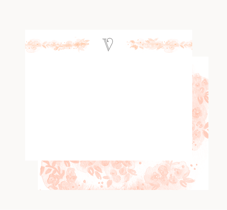Blush No. 2  ,  Flora Stationary , Starting at $13.99 (Standard 10-Pack)