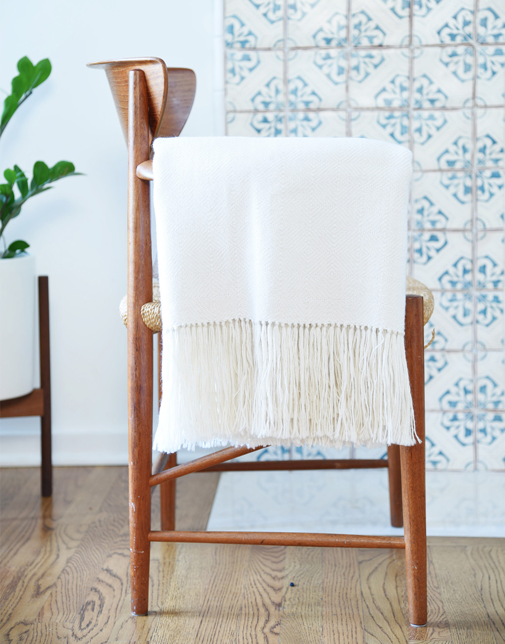 Alpaca Throw - Ivory by Aha Bolivia  ,  The Little Market , $220.00