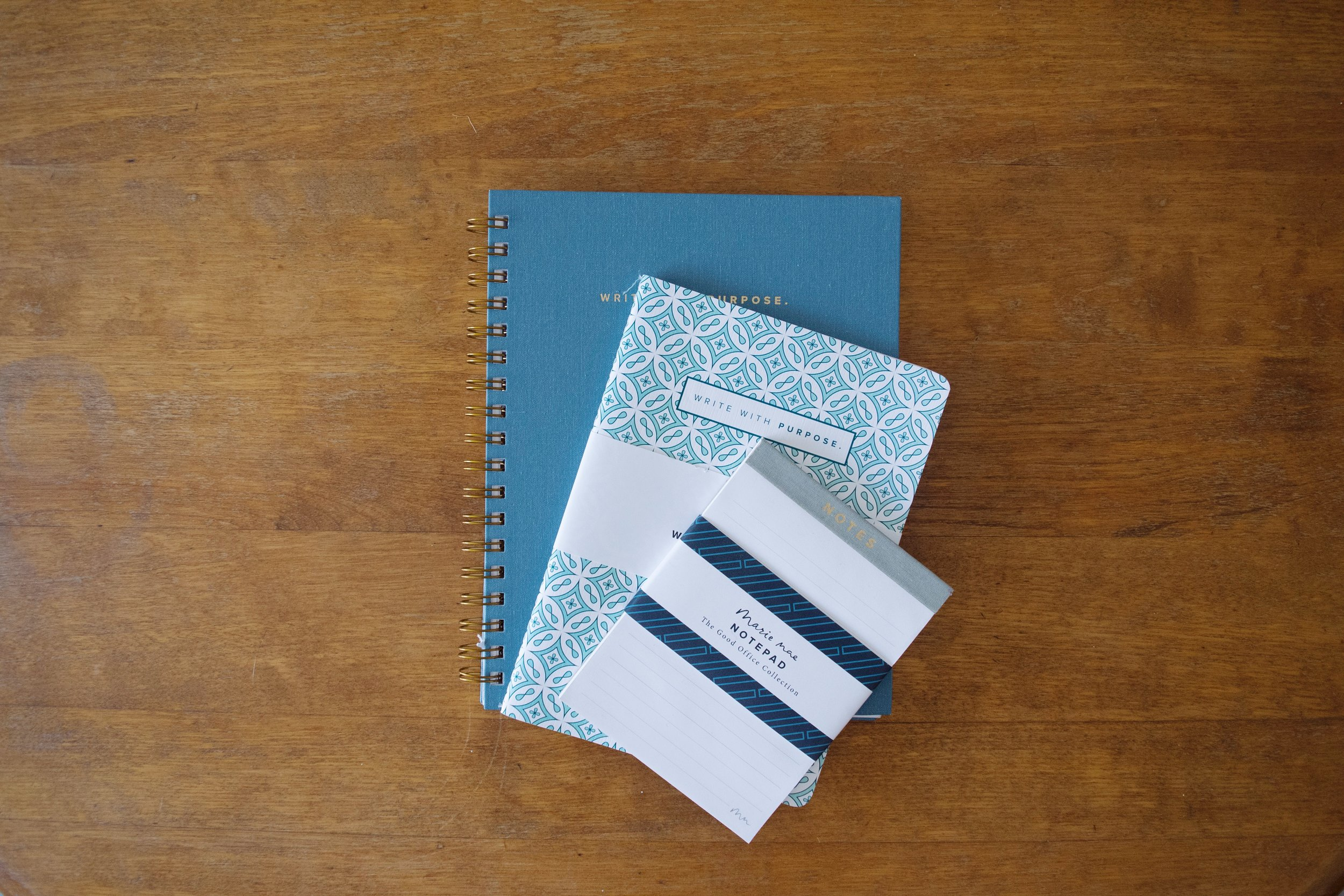 Steel Blue Spiral Notebook  , Marie Mae, $28.00