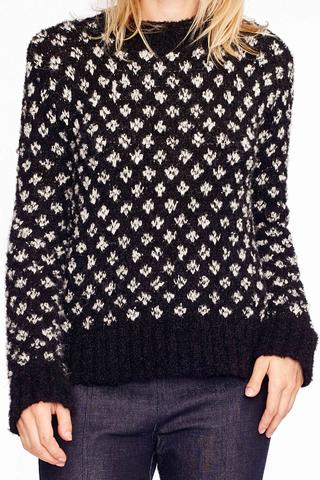 Kurumi Geometric Handloom Alpaca Sweater by AYNI  ,  Accompany , $168.00