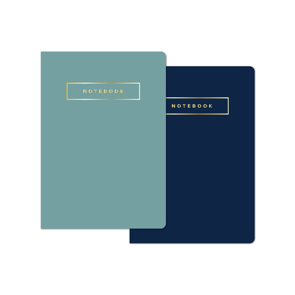 Large Notebook Set in Navy and Dusk Blue  ,  Marie Mae , $24.00
