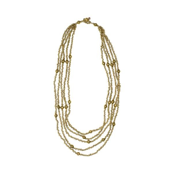 Tiyint Necklace Ethiopian Brass by Fashion & Compassion , TO THE MARKET, $72.00