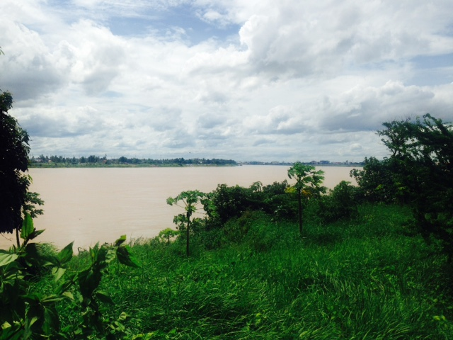 The very muddy Mekong from all the rain of late. Thailand is just on the other side.