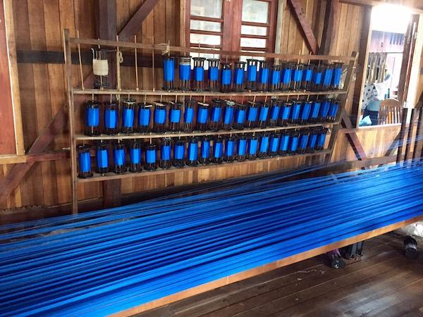 Brilliant blue lotus threads