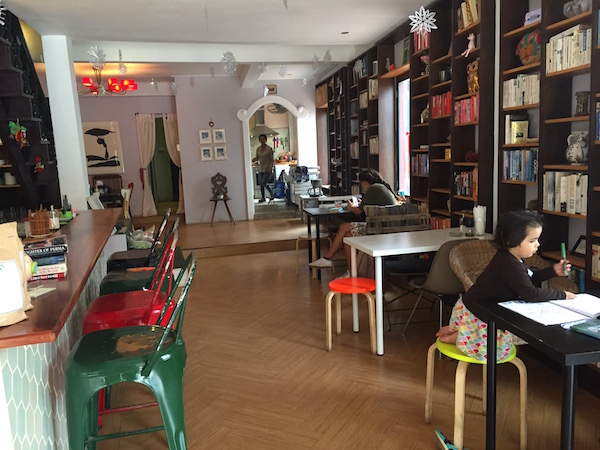 Novelty cafe with all its novels. Altogether a cool place to hang out.