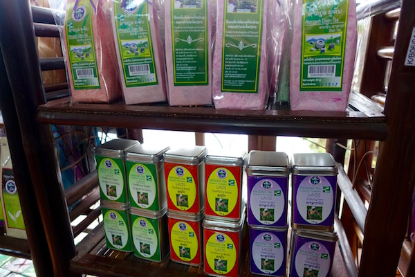 Phousanh green tea from northern Laos, near the Plain of Jars; and Paksong (eastern Laos) Green, Black and Oolong tea