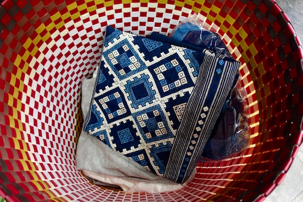 Indigo-dyed cotton is a popular feature of Ma Te Sai's wares