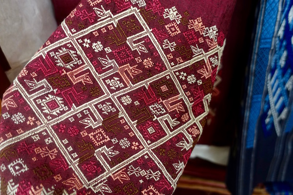 Intricate and exquisite - traditional, handwoven, 100% silk textiles. An authentic Lao traditional weaving experience at Houey Hong in Vientiane, Laos, a vocational training centre for women weavers | Eat Drink Laos http://eatdrinklaos.com/blog/vientiane-houey-hong