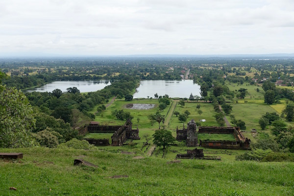 One of the best things about (finally) getting to the top of the 1,000 year old Wat Phu, in Champasak, Laos, is the view | Eat Drink Laos http://eatdrinklaos.com/blog/southern-laos-wat-phu
