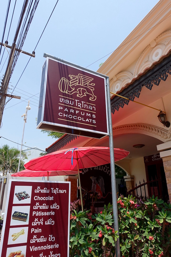 Vientiane: Parfums Chocolats | Eat Drink Laos Love chocolate? Then you will  really  love Parfums Chocolats, Vientiane's first (and only) chocolate shop! Made with passion in the traditional French style https://eatdrinklaos.com/blog/vientiane-parfums-chocolats