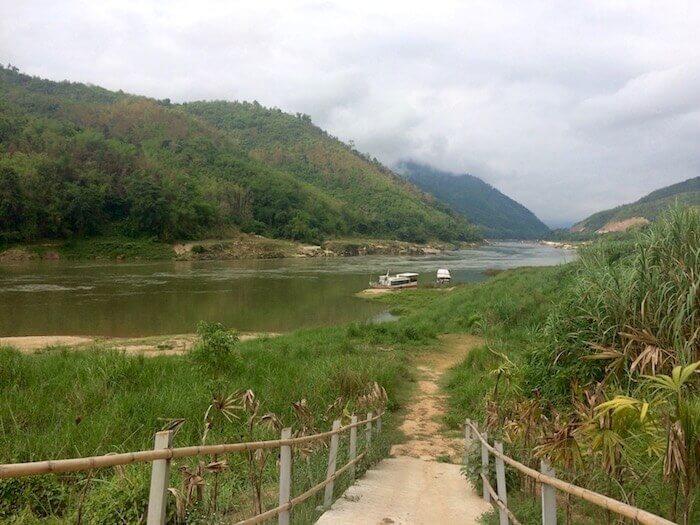 Stay at the beautiful Luang Say Lodge at Pak Beng in Laos - Northern Laos: Mekong River Cruise © Eat Drink Laos https://eatdrinklaos.com/blog/northern-laos-mekong-river-cruise