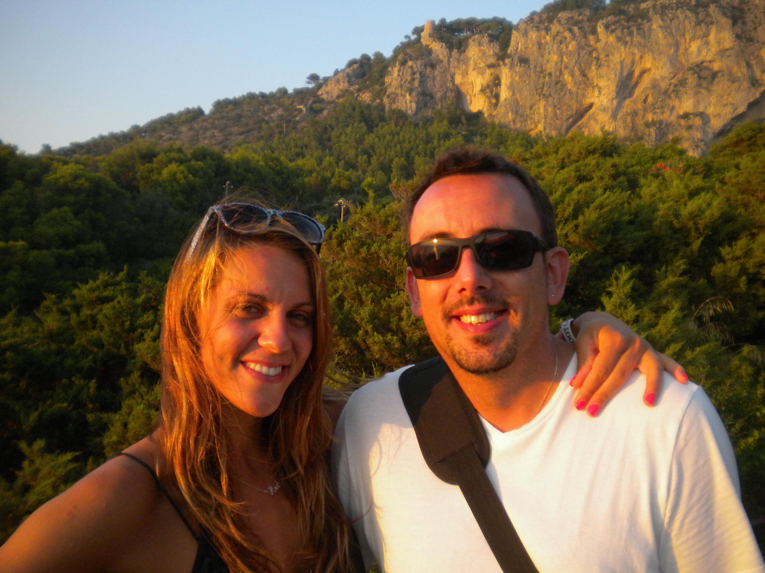 Katie and Scott, Capri