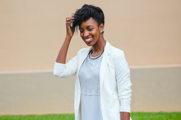 1. Add An Awesome Blazer.  Adding a blazer to any top be it a camisole, band tee, or cute top brings instant chic elements! The blazer adds structure that can then be played with by rolling or folding the sleeves.