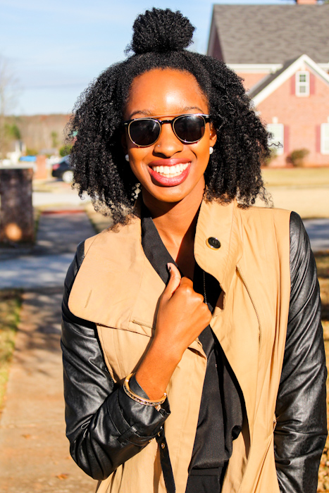 Outerwear can make a great difference for a simple outfit. Don't shy away from a bold and beautiful jacket or sweater.