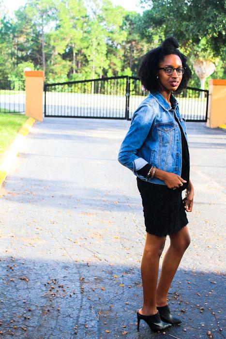 Heels: GoJane Dress:Forever21(old) Jacket & top: Forever21