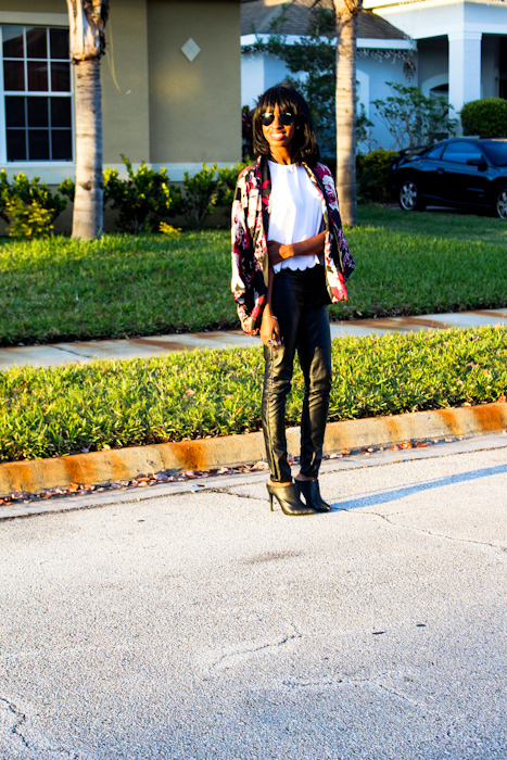 Kimono : Thrifted  Top : Ross  Pants:  JC Penny  Shoes: Sam Edelman  Ross