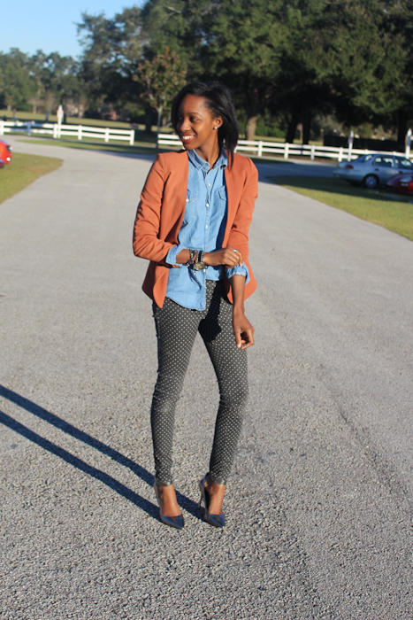 Pants:H&M Shoes:Coach Top:Victorias Secret Blazer:Forever21Watch:Aldo