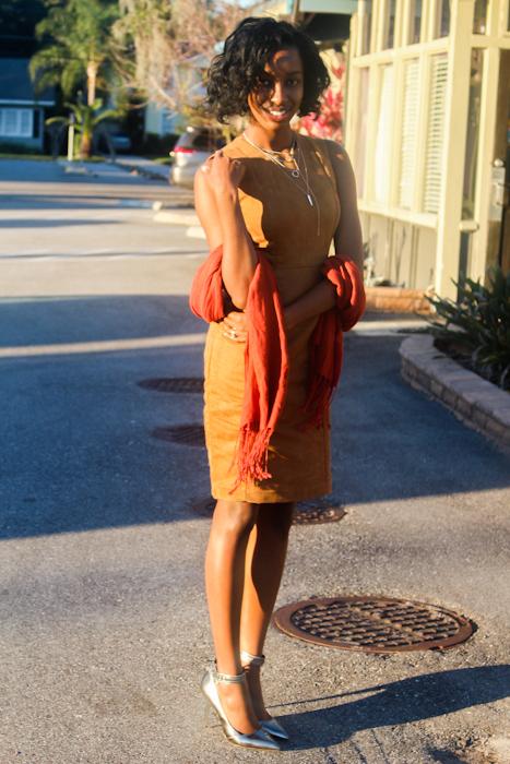 dress:  Calvin Klein  shoes:  Coach  jewelry:  F21