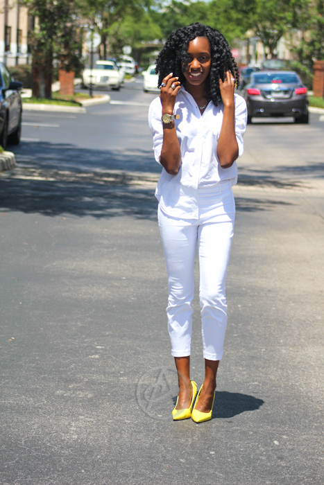 Top: Forever 21. Bottoms: H&M. Shoes: Call It Spring
