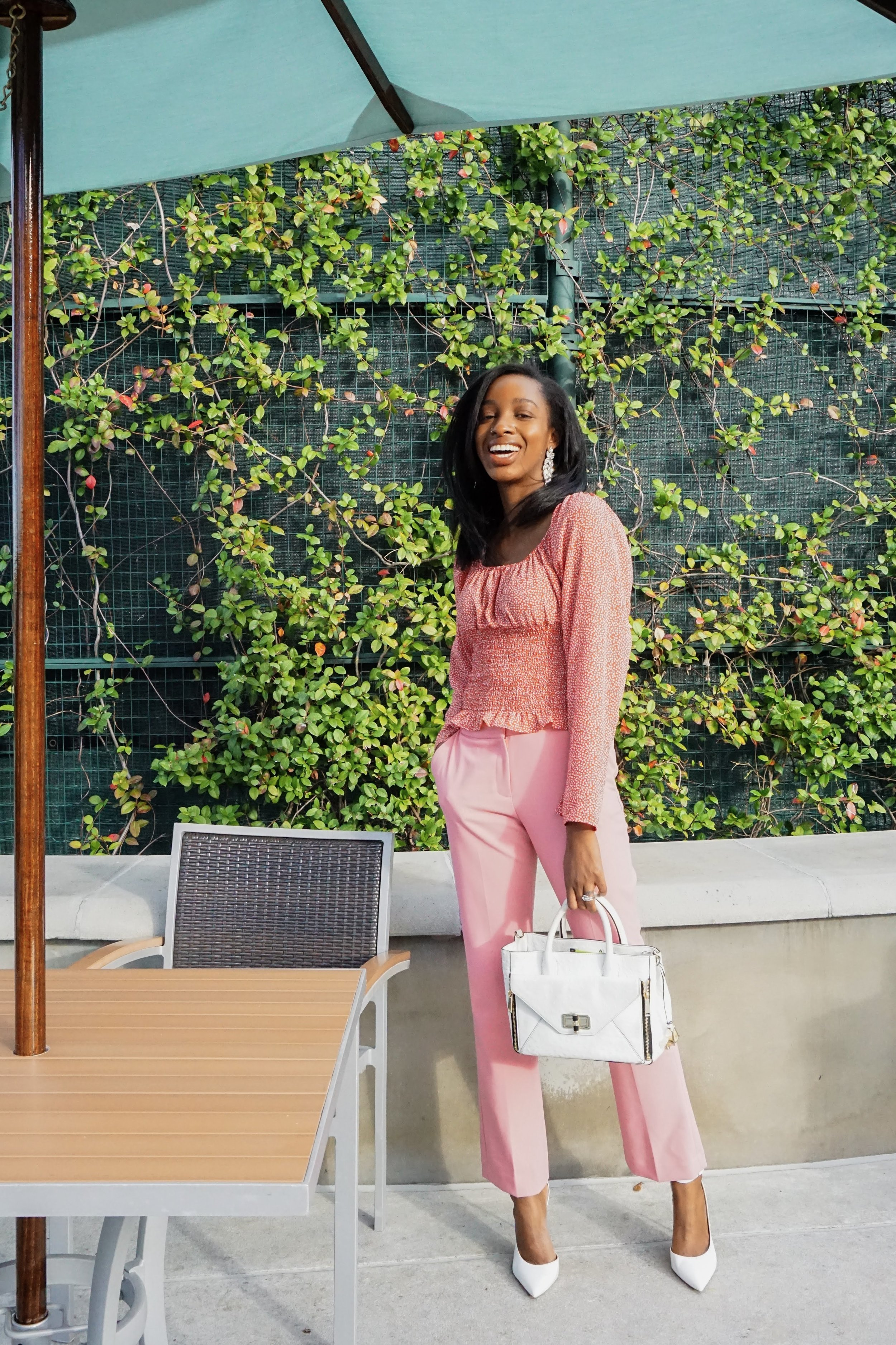 Look 1.  This look is perfect for all of my ladies whose plans include clocking in on Valentine's Day. Whether you'll be at the office, seeing clients all over town or attending a conference why not get festive for your daytime plans.