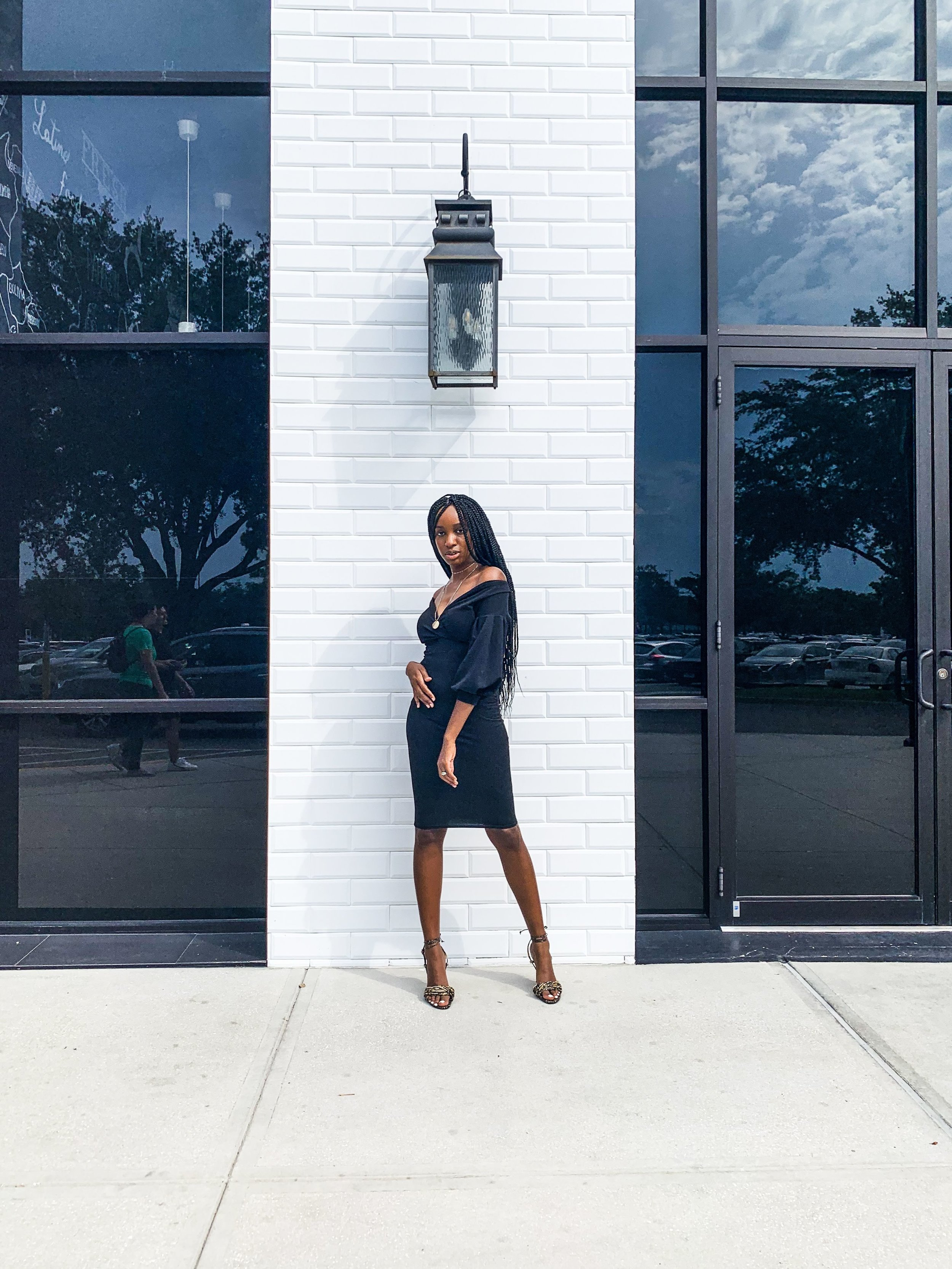 Black bodycon midi dress, black midi dress, femme luxe refinery dress