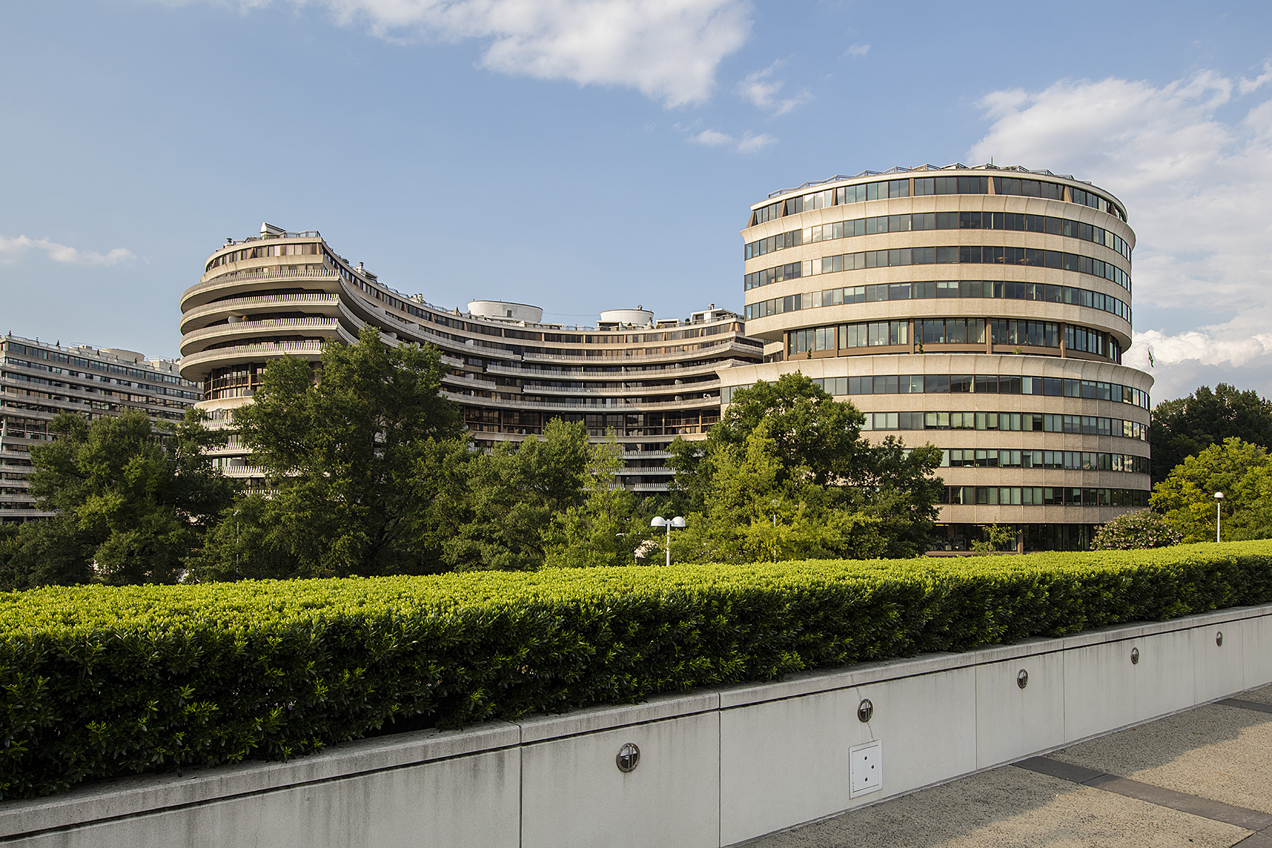 View of the Watergate from the Kennedy Center. Photo: Alston Thompson Photography