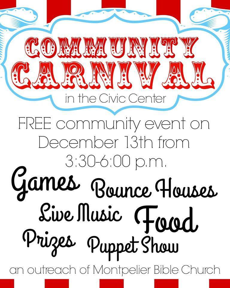 Community Carnival in the Montpelier Civic Center