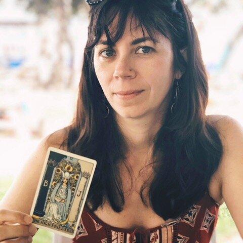 Photo of: Cecily Sailer founder of Typewriter Tarot