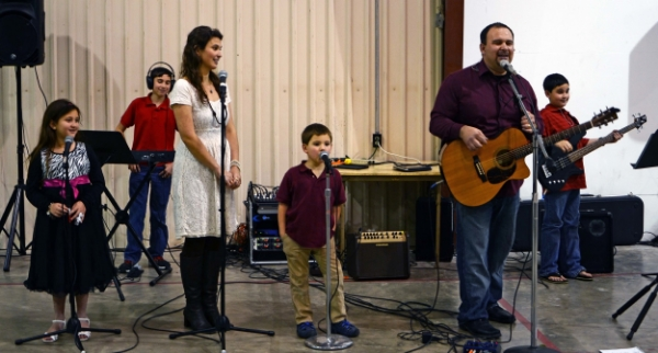 Aragons singing at a Valentines Banquet - 2/14/15